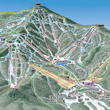 Killington Trail Map - Gary Millikin