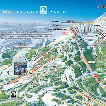 Moonlight Basin Trail Map - Rad Smith