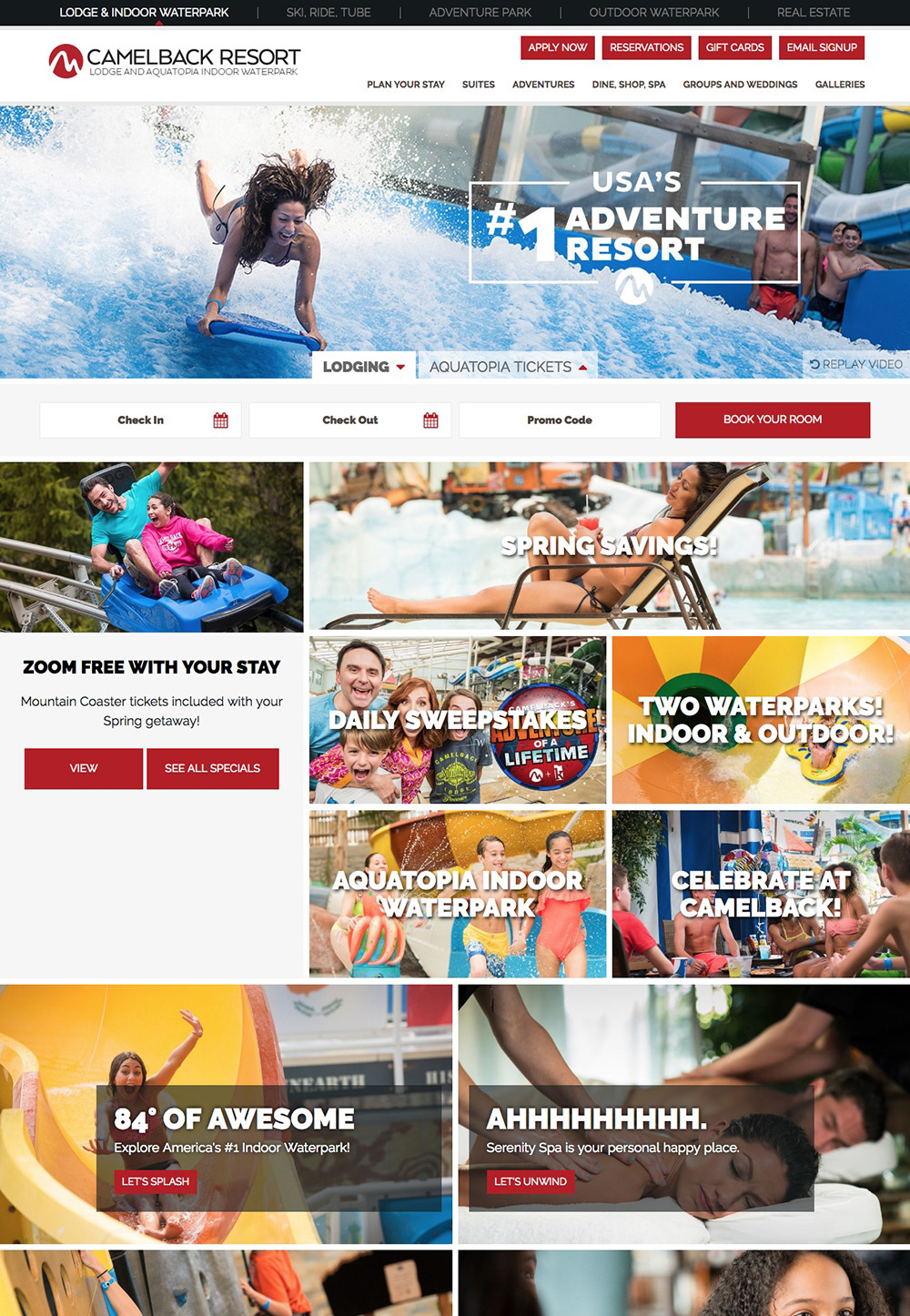 camelback lodge homepage
