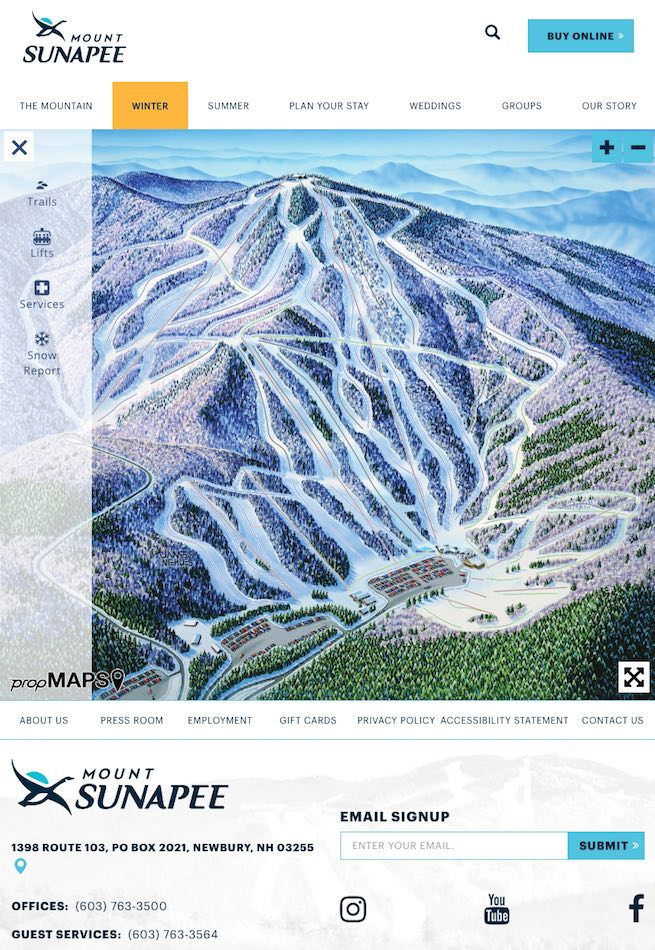 sunapee interactive trail map page